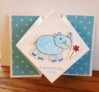 Susan Tran's Diamond Fold card