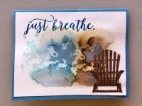 Beach chair watercolor wash