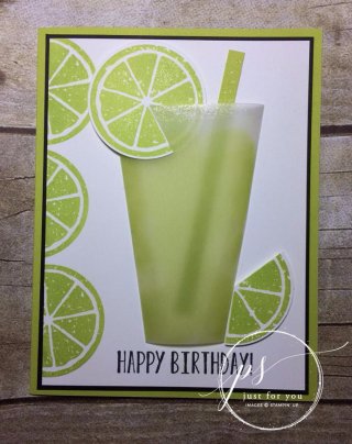Lime summer drink card