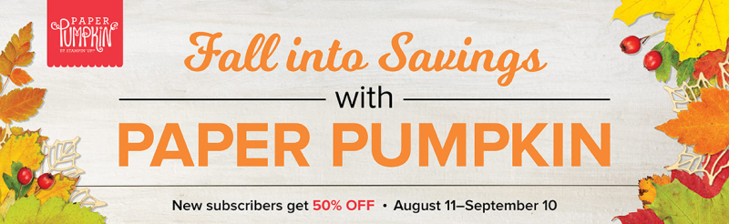 PAPER PUMPKIN HALF OFF
