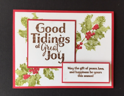 Good Tidings card w two greetings