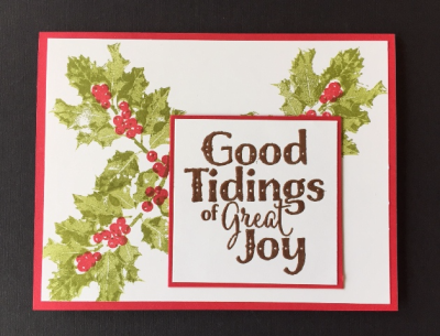 Good Tidings card w one greeting