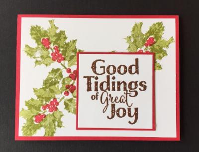 Good Tidings card w one greeting