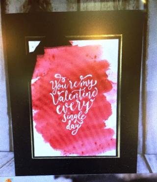 Red brusho w Valentine quote