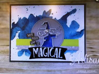 Brusho Magical card ~ Artisan