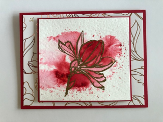 Brusho Class April 2018 flower in red