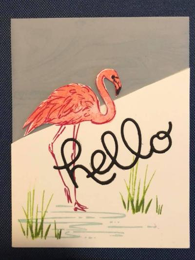 Karen Benton Stamping on Vellum