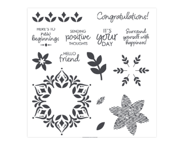 Happiness Surrounds stamp set