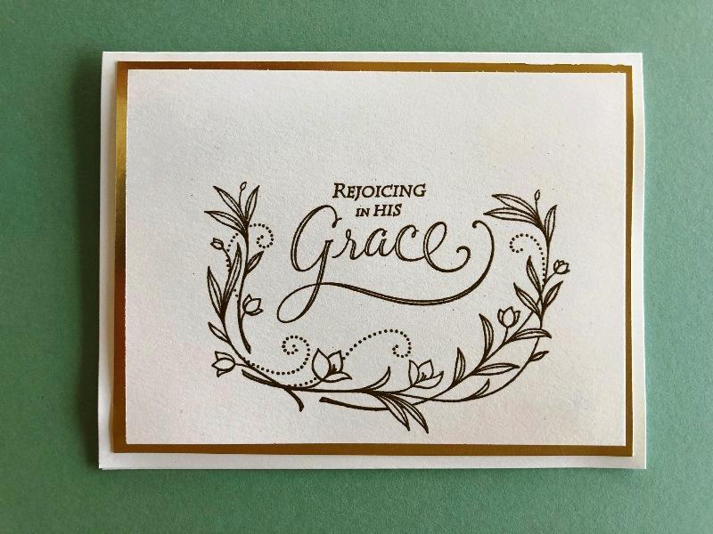 Gold Embossed Card