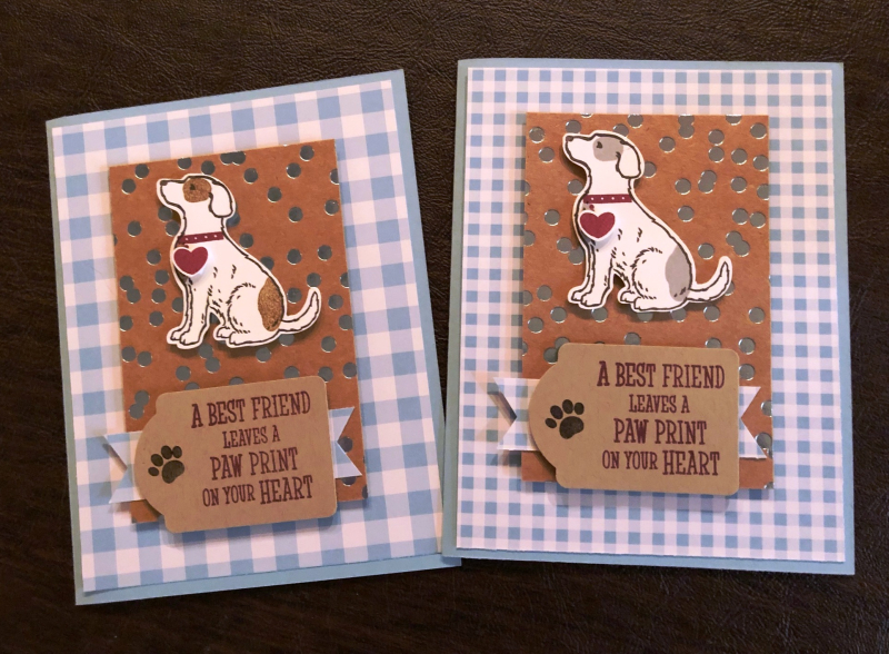 Close up of Dog cards