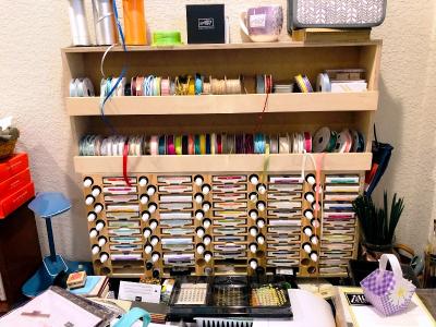 Stamp pad adn ribbon storage
