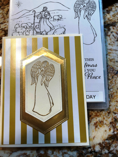 Angel card w stamp set