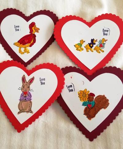 Heart Valentines w duckies