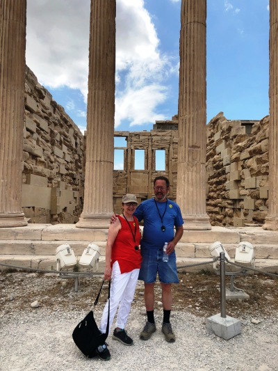 Alan and I at the Parthenon