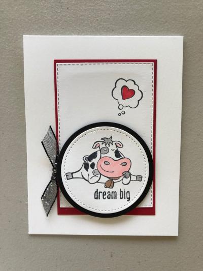 Dream big cow