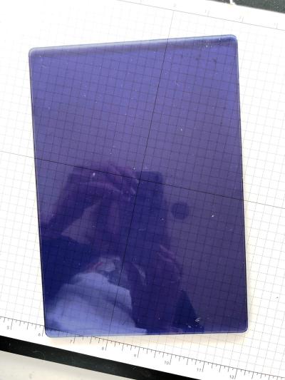 3D embossing folder plate ~ blue