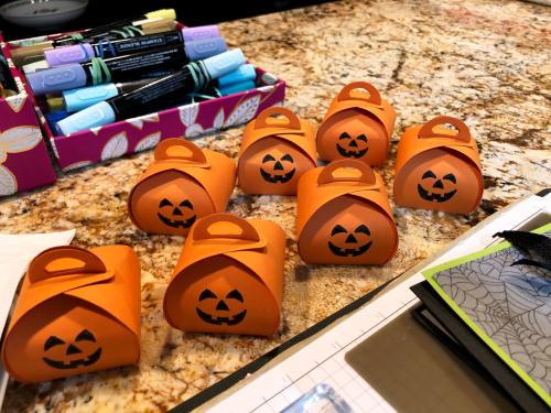 Little pumpkins on the counter