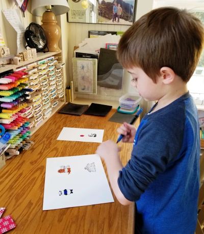 Grandson coloring small images
