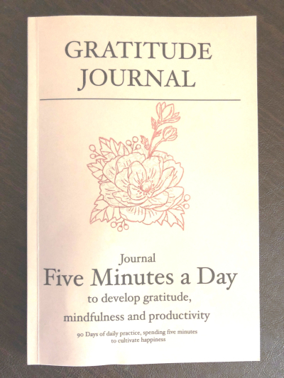 Journal w rose stamp