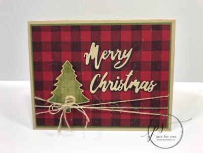 Plaid Card ~ Merry Christmas
