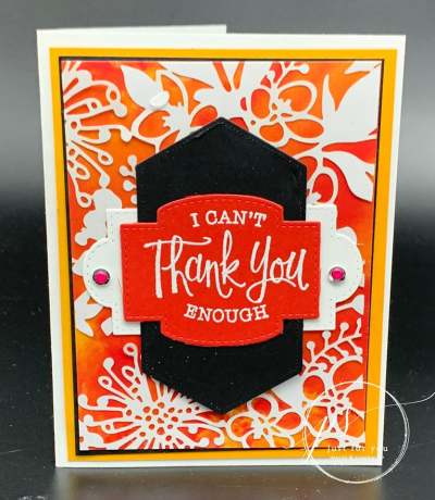 Laser Cut Poppy Parade Card