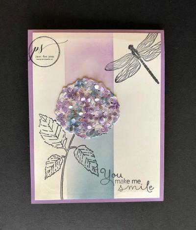 March Hydrangea Card WM
