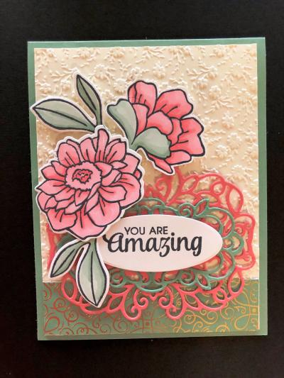 Blended flower card
