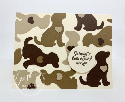 Dog card ~ so lucky