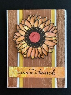 SUNFLOWER CARD SMOOSH