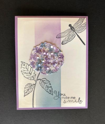 March Hydrangea Card 2