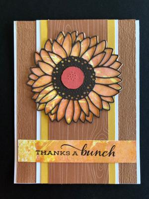 SUNFLOWER CARD SMOOSH