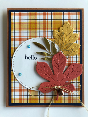 HELLO PLAID CARD FOR SEPTEMBER CLASS