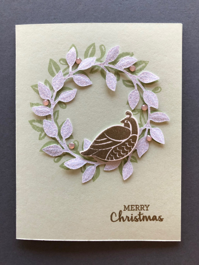 CARD W WHITE WREATH