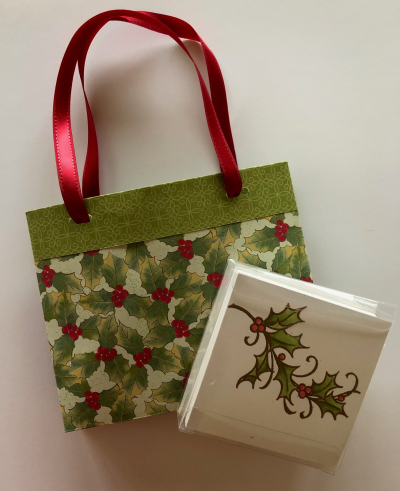 GIFT BAG AND 3 X 3 CARDS